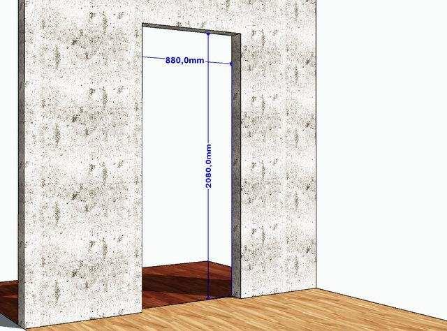 параметры дверной коробки ширина дверной конструкции